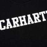 Мужская толстовка Carhartt WIP College 9.4 Oz Black/White фото- 2