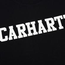 Мужская толстовка Carhartt WIP College 9.4 Oz Black/White фото- 2