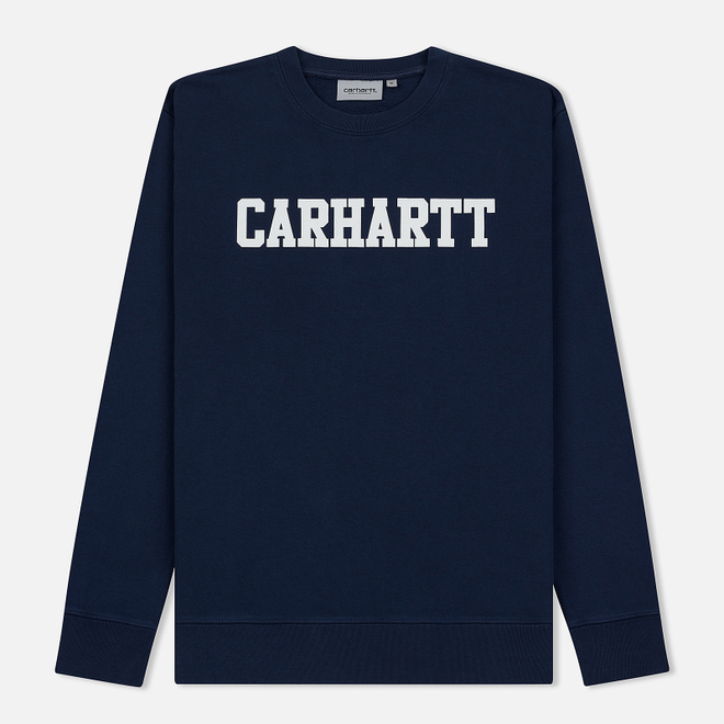 Мужская толстовка Carhartt WIP College 9.4 Oz Blue/White