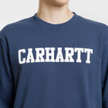 Мужская толстовка Carhartt WIP College 9.4 Oz Blue/White фото- 3