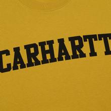 Мужская толстовка Carhartt WIP College 9.4 Oz Colza/Black фото- 2