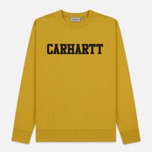 Мужская толстовка Carhartt WIP College 9.4 Oz Colza/Black фото- 0