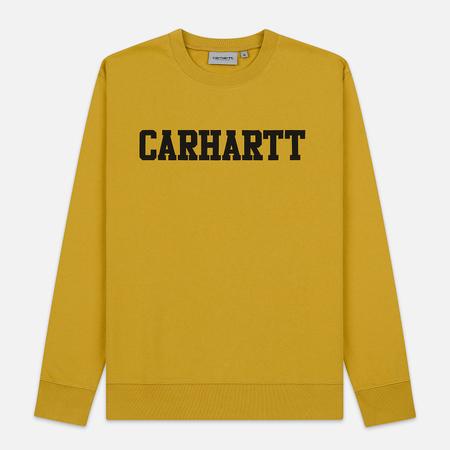 Мужская толстовка Carhartt WIP College 9.4 Oz Colza/Black