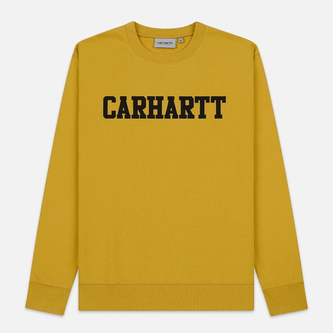 Мужская толстовка Carhartt WIP College 9.4 Oz Colza/Black
