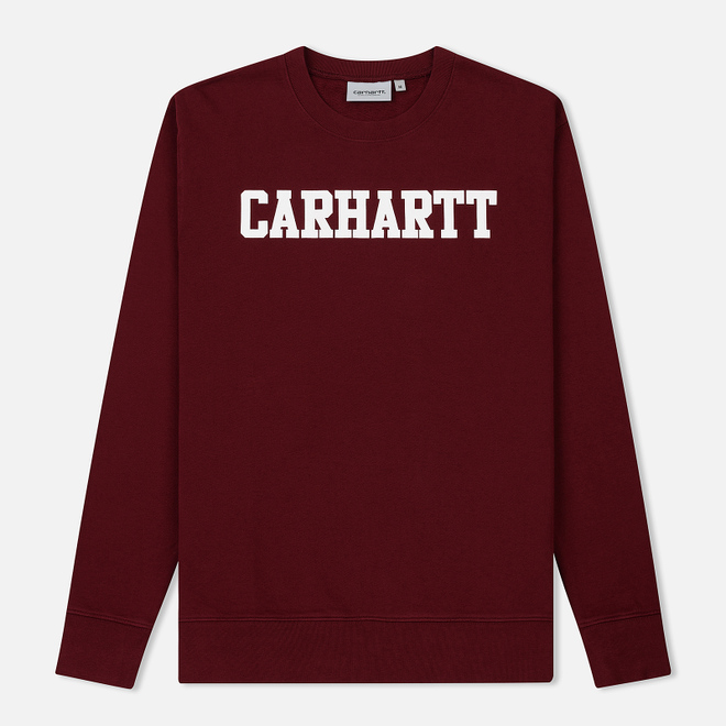 Мужская толстовка Carhartt WIP College 9.4 Oz Cranberry/White