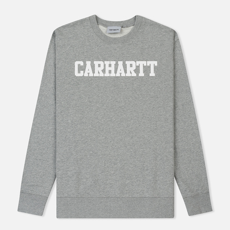 Мужская толстовка Carhartt WIP College 9.4 Oz Grey Heather/White