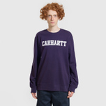 Мужская толстовка Carhartt WIP College 9.4 Oz Lakers/White фото- 4
