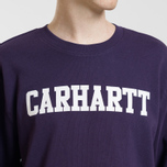 Мужская толстовка Carhartt WIP College 9.4 Oz Lakers/White фото- 5