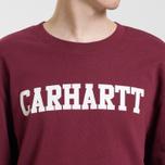 Мужская толстовка Carhartt WIP College 9.4 Oz Mulberry/White фото- 5