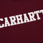 Мужская толстовка Carhartt WIP College 9.4 Oz Mulberry/White фото- 2