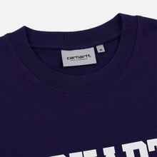 Мужская толстовка Carhartt WIP College 9.4 Oz Royal Violet/White фото- 1