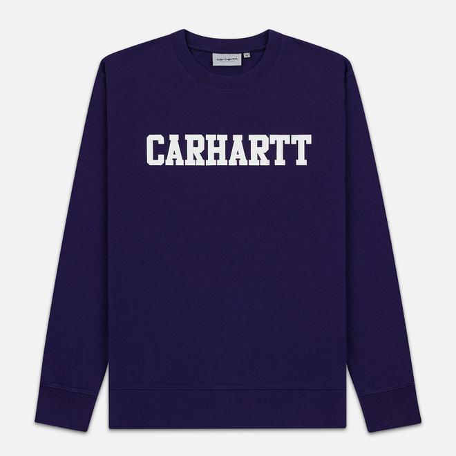 Мужская толстовка Carhartt WIP College 9.4 Oz Royal Violet/White