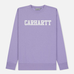 Мужская толстовка Carhartt WIP College 9.4 Oz Soft Lavender/White фото- 0