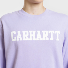 Мужская толстовка Carhartt WIP College 9.4 Oz Soft Lavender/White фото- 3