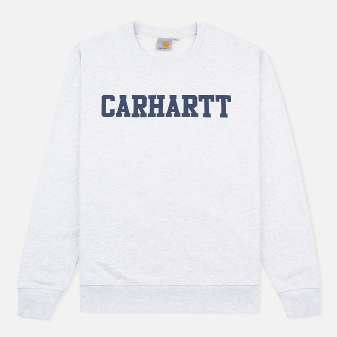 Carhartt WIP College Crew Neck Ash Men`s Sweatshirt Heather/Blue