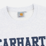 Мужская толстовка Carhartt WIP College Crew Neck Ash Heather/Blue фото- 1