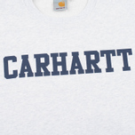 Carhartt WIP College Crew Neck Ash Men`s Sweatshirt Heather/Blue photo- 2
