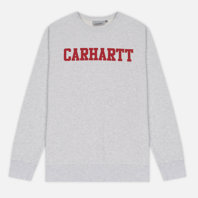 Мужская толстовка Carhartt WIP College Crew Neck Ash Heather/Chili