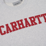 Мужская толстовка Carhartt WIP College Crew Neck Ash Heather/Chili фото- 2