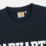 Мужская толстовка Carhartt WIP College Crew Neck Black/White фото- 1