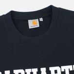 Carhartt WIP College Crew Neck Men`s Sweatshirt Black/White photo- 1