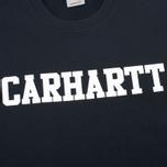 Carhartt WIP College Crew Neck Men`s Sweatshirt Black/White photo- 2