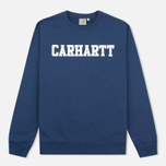 Мужская толстовка Carhartt WIP College Crew Neck Blue/White фото- 0