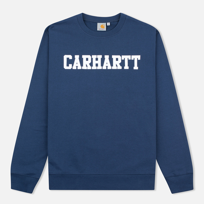 Мужская толстовка Carhartt WIP College Crew Neck Blue/White