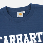Мужская толстовка Carhartt WIP College Crew Neck Blue/White фото- 1