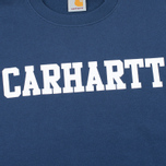 Мужская толстовка Carhartt WIP College Crew Neck Blue/White фото- 2