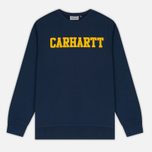 Мужская толстовка Carhartt WIP College Crew Neck Blue/Yellow фото- 0