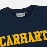 Мужская толстовка Carhartt WIP College Crew Neck Blue/Yellow фото- 1