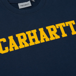 Мужская толстовка Carhartt WIP College Crew Neck Blue/Yellow фото- 2