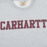 Мужская толстовка Carhartt WIP College Crew Neck Grey Heather/Cordovan фото- 2