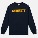 Мужская толстовка Carhartt WIP College Flock 9.1 Oz Navy/Quince фото- 0