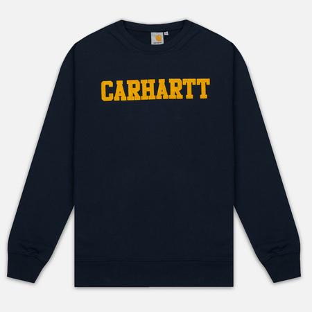 Мужская толстовка Carhartt WIP College Flock 9.1 Oz Navy/Quince