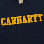 Мужская толстовка Carhartt WIP College Flock 9.1 Oz Navy/Quince фото- 2