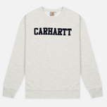 Мужская толстовка Carhartt WIP College Flock 9.1 Oz Snow Heather/Navy фото- 0