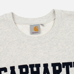 Мужская толстовка Carhartt WIP College Flock 9.1 Oz Snow Heather/Navy фото- 1
