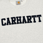 Мужская толстовка Carhartt WIP College Flock 9.1 Oz Snow Heather/Navy фото- 2