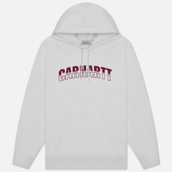 Мужская толстовка Carhartt WIP District Hooded 13 Oz Ash Heather/Shiraz