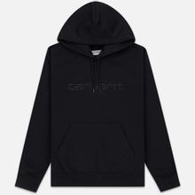 Мужская толстовка Carhartt WIP Hooded Carhartt 13 Oz Black/Black фото- 0