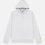 Мужская толстовка Carhartt WIP Hooded Chase 13 Oz Ash Heather/Gold фото- 0