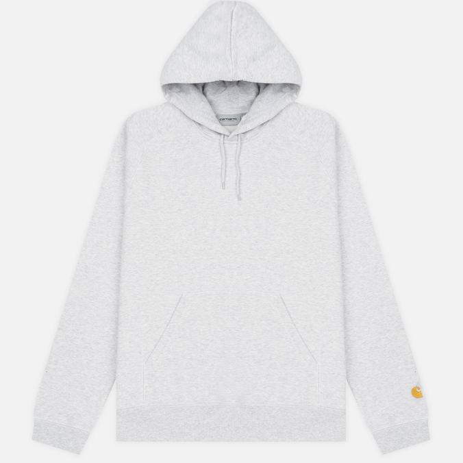 Мужская толстовка Carhartt WIP Hooded Chase 13 Oz Ash Heather/Gold