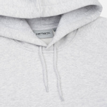 Мужская толстовка Carhartt WIP Hooded Chase 13 Oz Ash Heather/Gold фото- 1