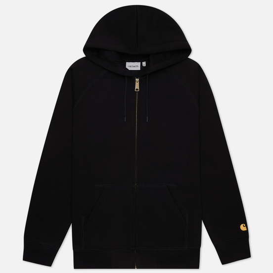 Мужская толстовка Carhartt WIP Chase 13 Oz Full-Zip Hoodie Black/Gold