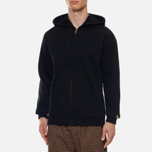 Мужская толстовка Carhartt WIP Hooded Chase Black/Gold фото- 3