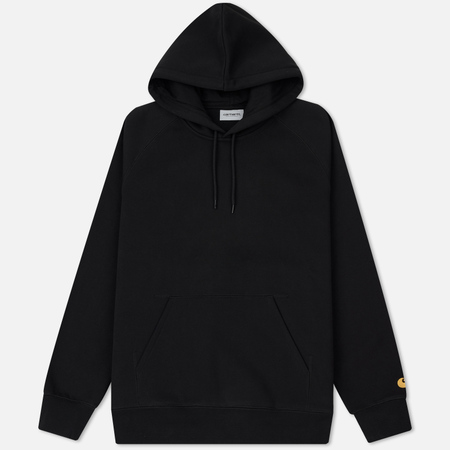 Мужская толстовка Carhartt WIP Hooded Chase Brushed 13 Oz Black/Gold