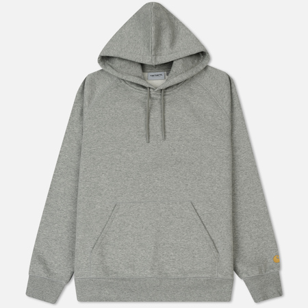 Мужская толстовка Carhartt WIP Hooded Chase Brushed 13 Oz Grey Heather/Gold