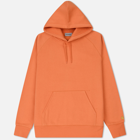 Мужская толстовка Carhartt WIP Hooded Chase Brushed 13 Oz Jaffa/Gold